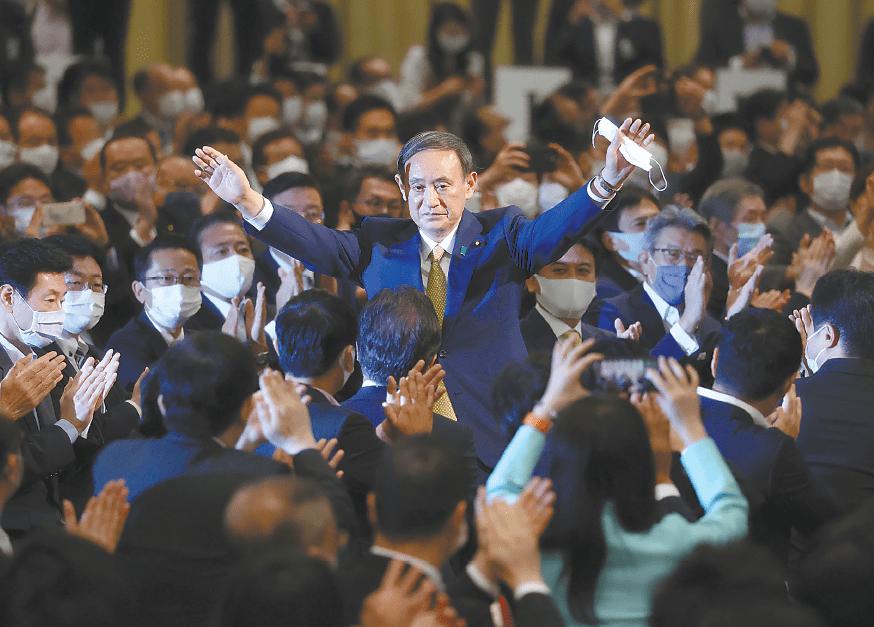 菅义伟负责日本自民党,日本政治,欢迎