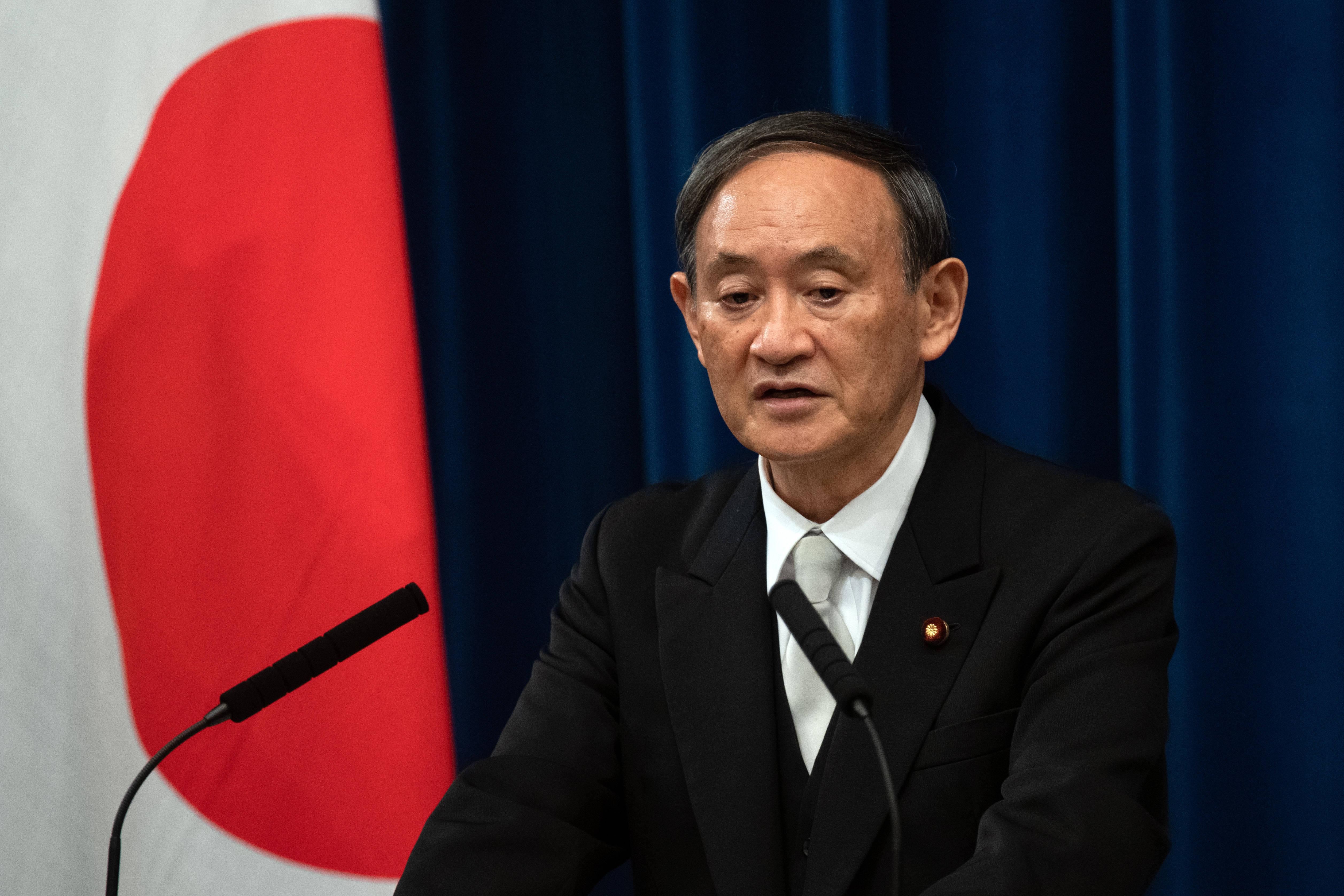 日本新首相菅义伟首次记者会