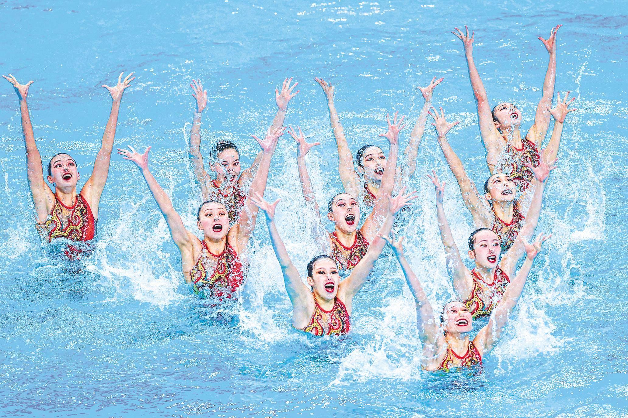水上芭蕾绽放江城?武汉迎来疫后首个全国性体育赛事