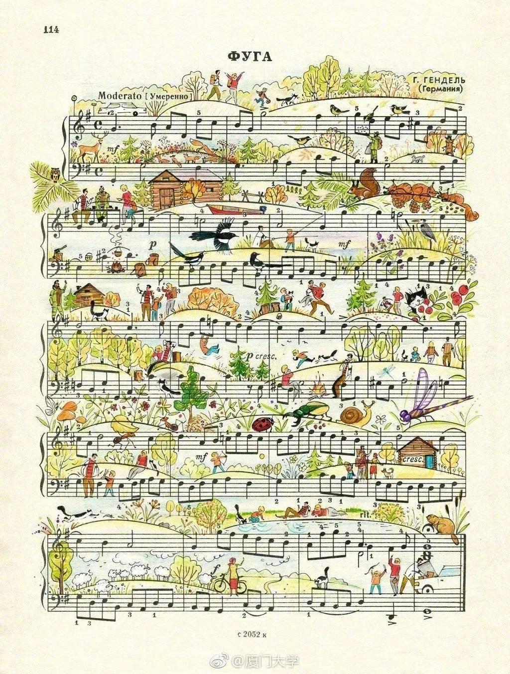 钢琴老师总说弹琴时要有画面感,这些谱子妥妥的做到了!_曲谱
