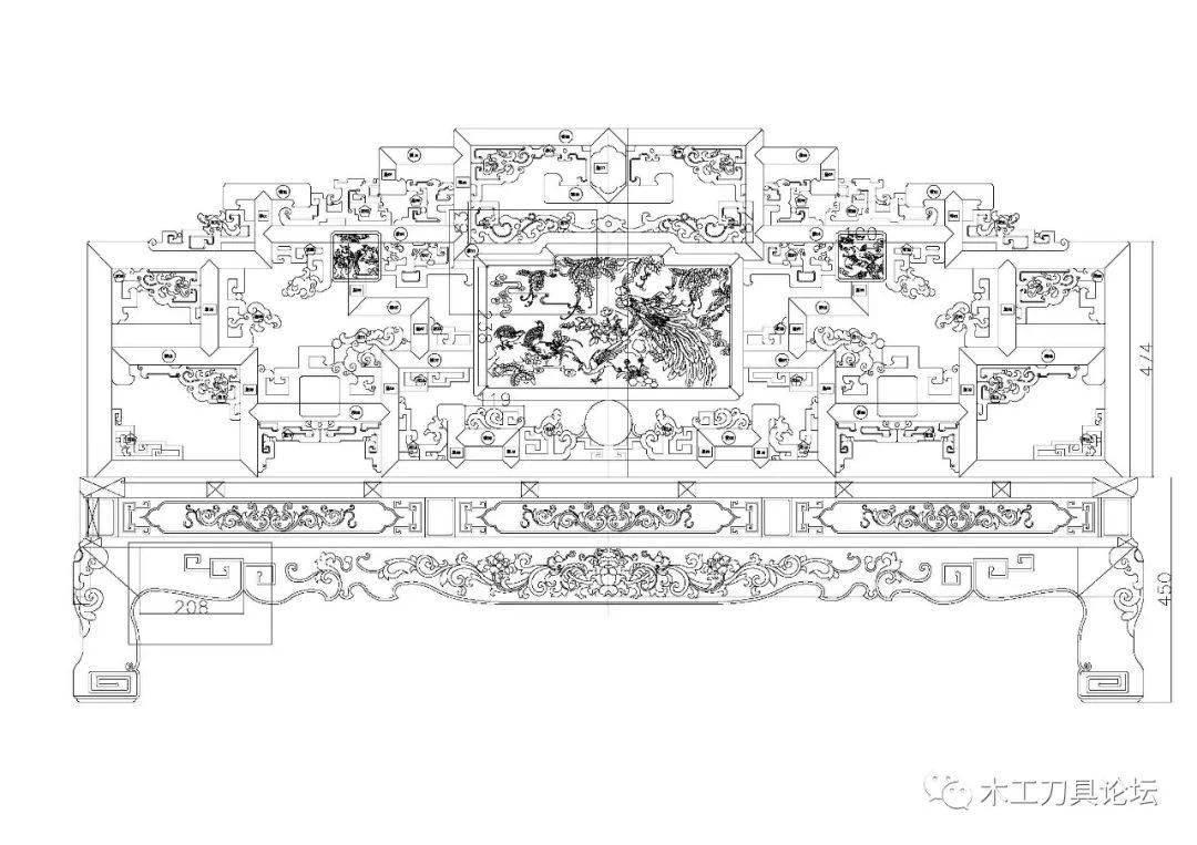 20张古典家具设计图床CAD图