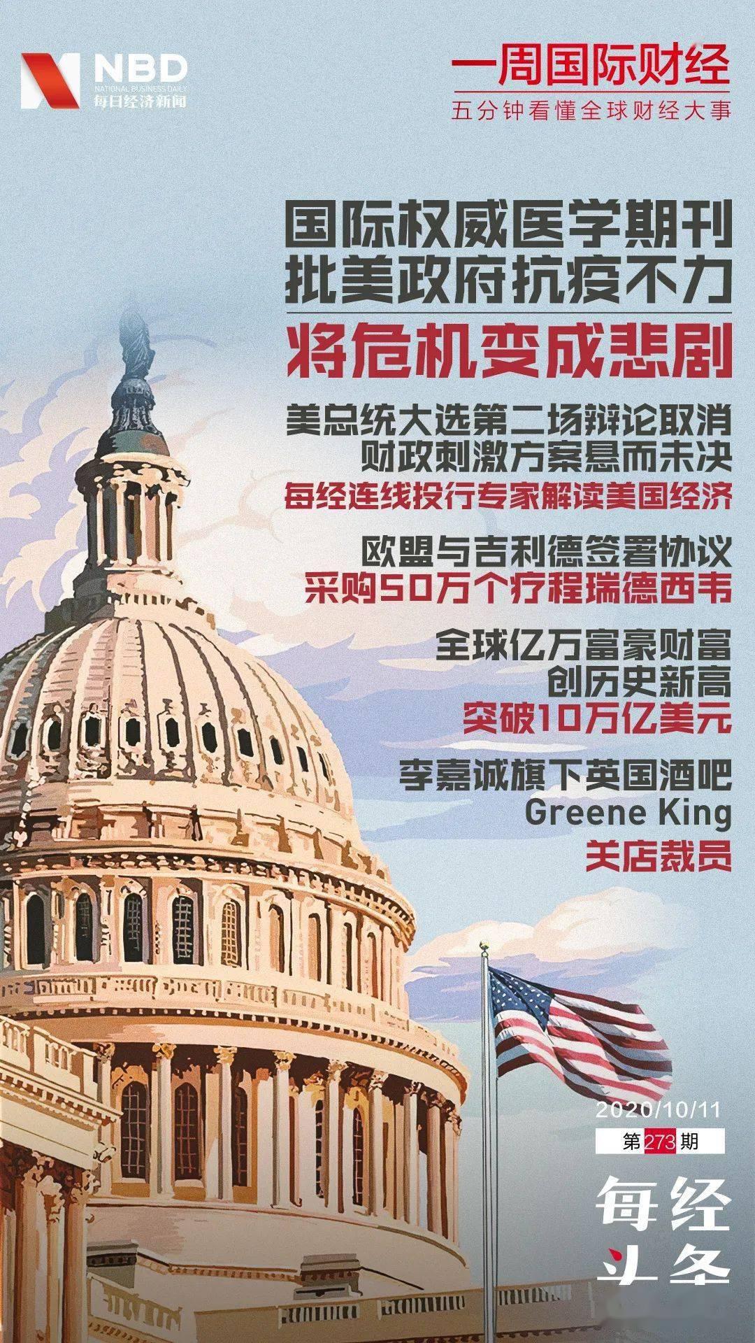 第二场美国总统竞选辩论取消;每经连线投行专家解读美国经济|一周国际财经