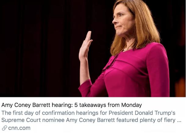 """美参议院启动大法官任命听证会,巴雷特能否顺利""""过关""""?"""