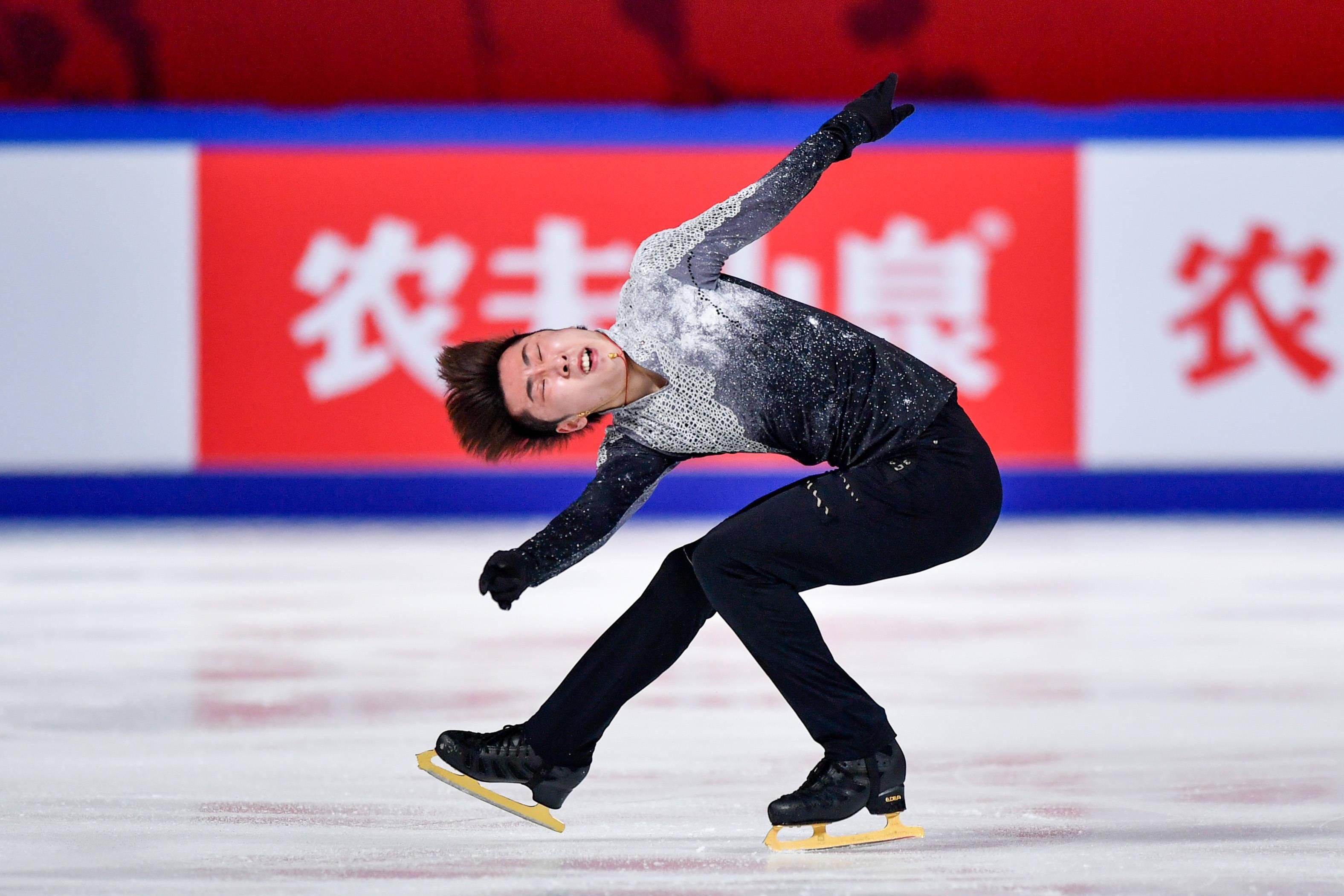 花样滑冰——中国杯:金博洋夺得男子单人滑冠军
