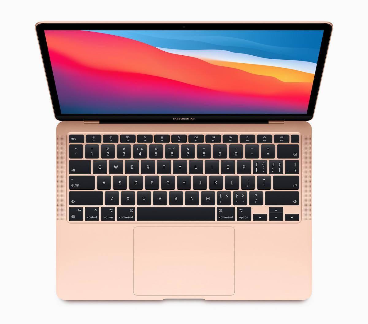 苹果推出搭载 M1 芯片的新款 MacBook Air