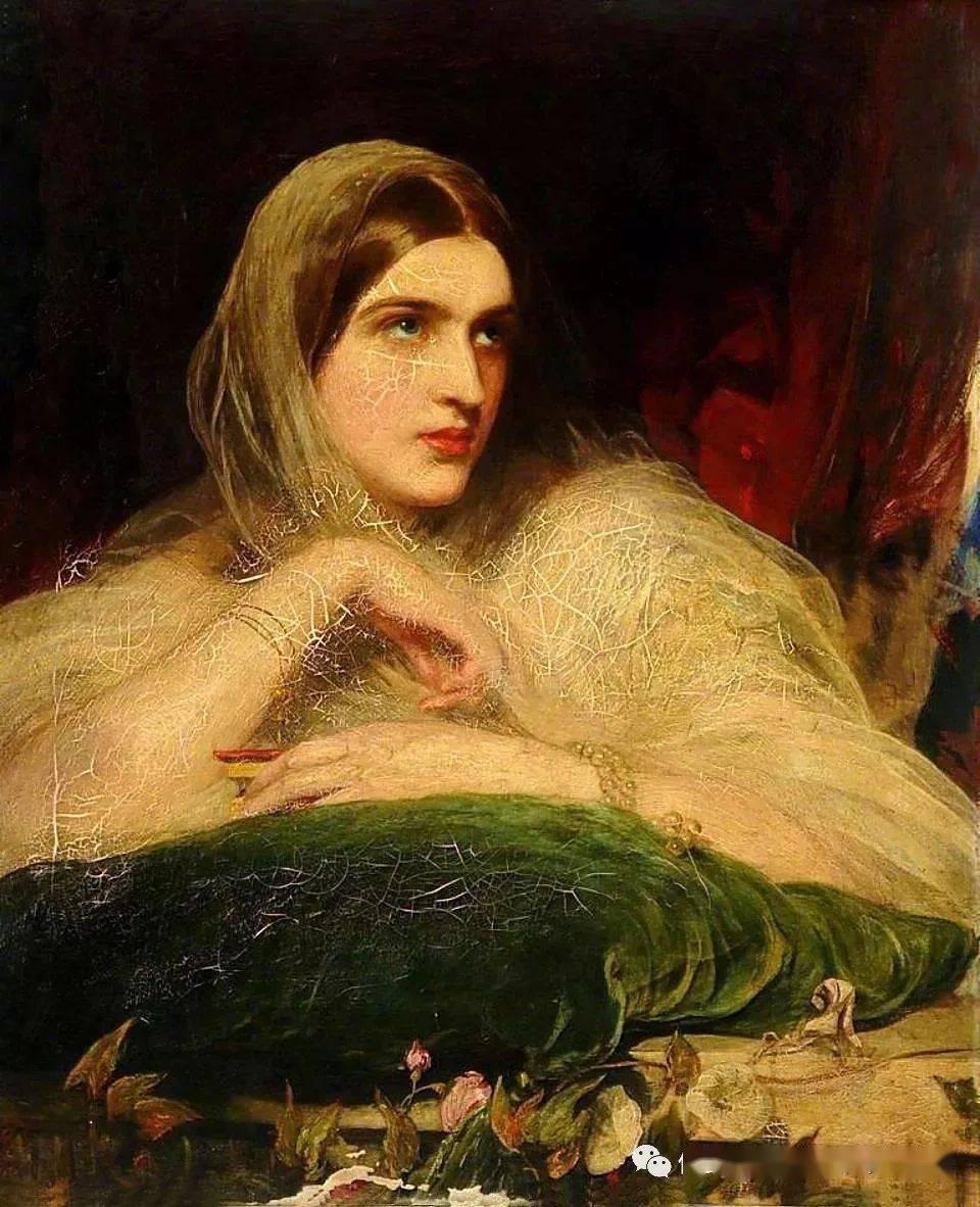 英国艺术家詹姆斯·桑特人体油画中的美人,珠圆玉润,风情万种