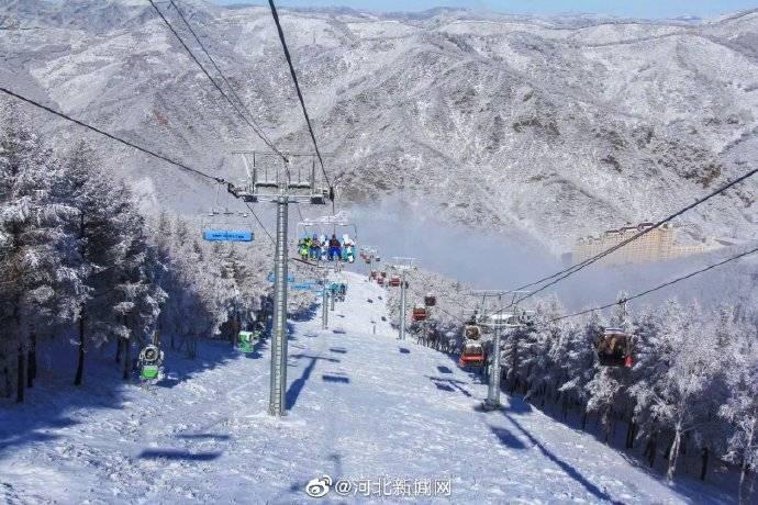 张家口雪后的崇礼滑雪场美爆了