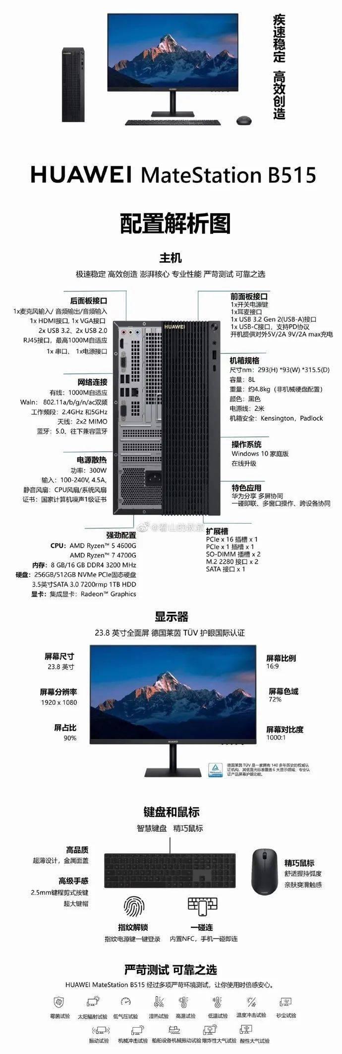 【简讯】华为MateStation B515台式机价格曝光;闪迪品牌正式消失…
