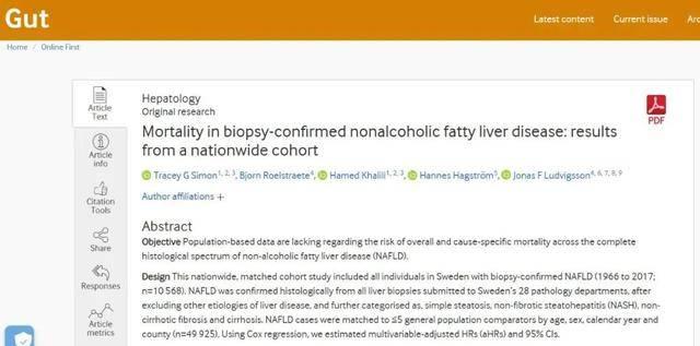 """「轻度脂肪肝」伤害可不""""轻""""!历时14年研究:死亡风险增7成"""