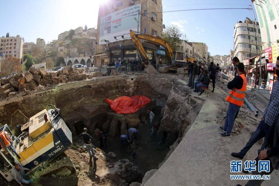 约旦首都安曼发现古罗马建筑遗址