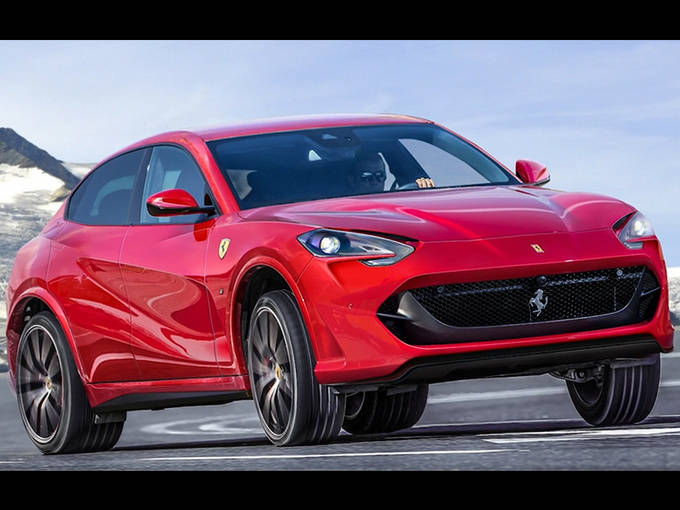 法拉利最新SUV测试谍照!以V6混合动力发动机/明年首次亮相为例