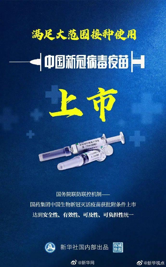 重磅!中国新冠病毒疫苗上市