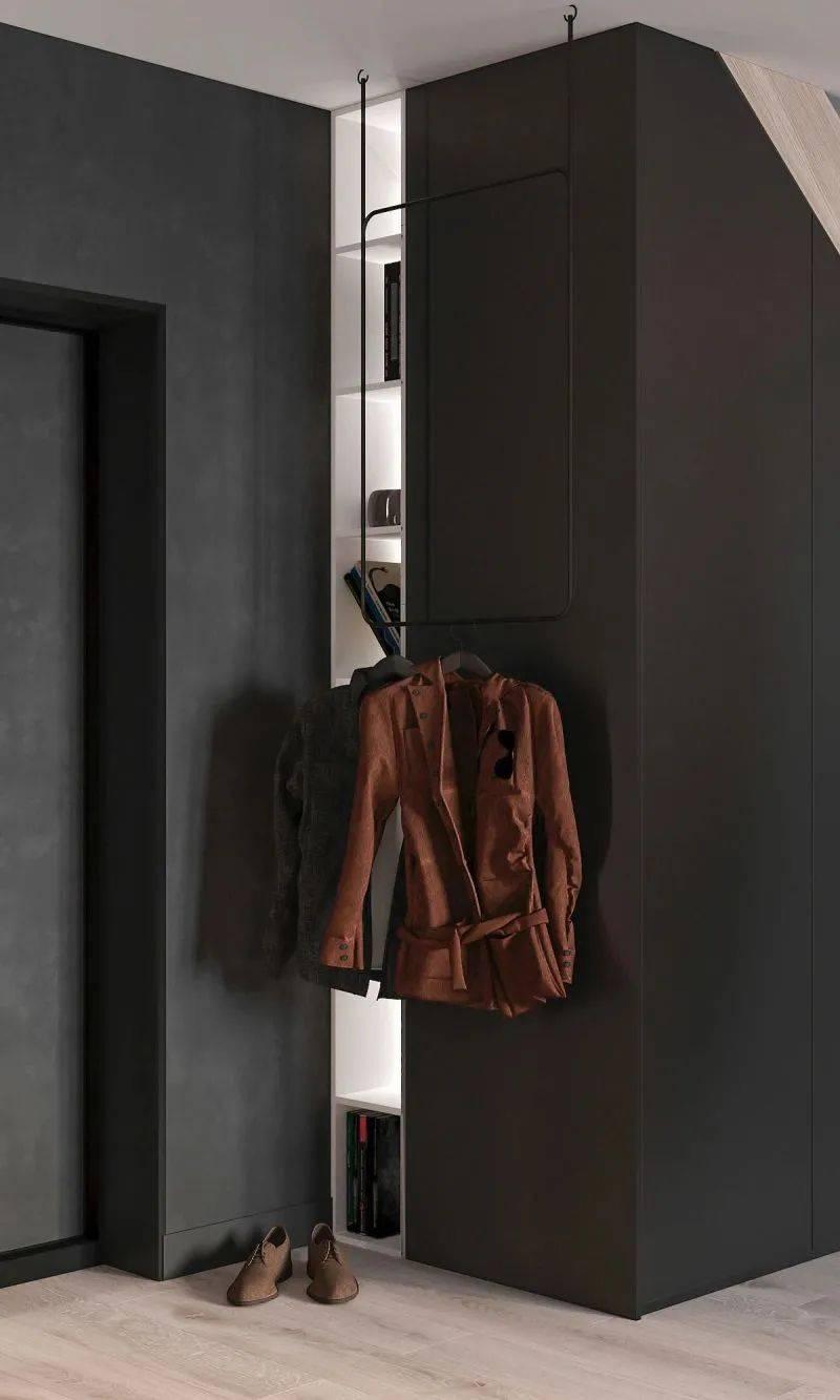 75㎡公寓原木+黑设计,让小空间也有高格调!