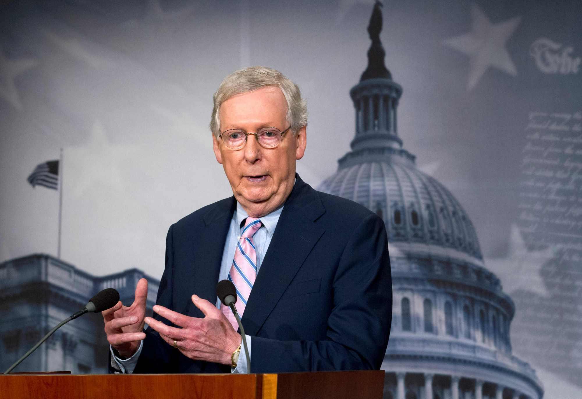 """美媒:共和党参议院领袖麦康奈尔对弹劾特朗普""""感到高兴"""""""