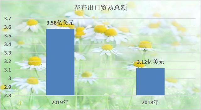2019年中国花卉出口总额上升,进口额10年来首次下降