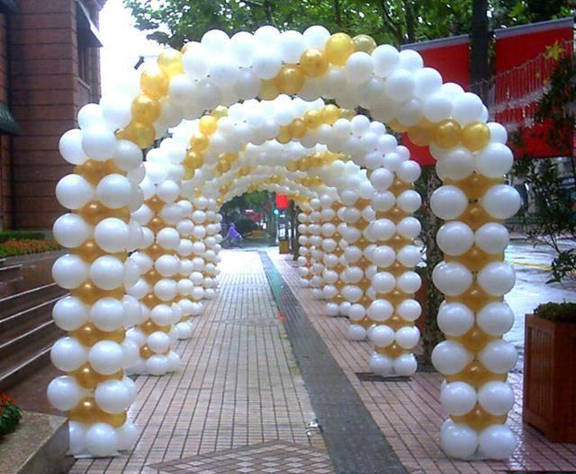 七彩彩虹气球拱门造型教程图解,一起来看看吧
