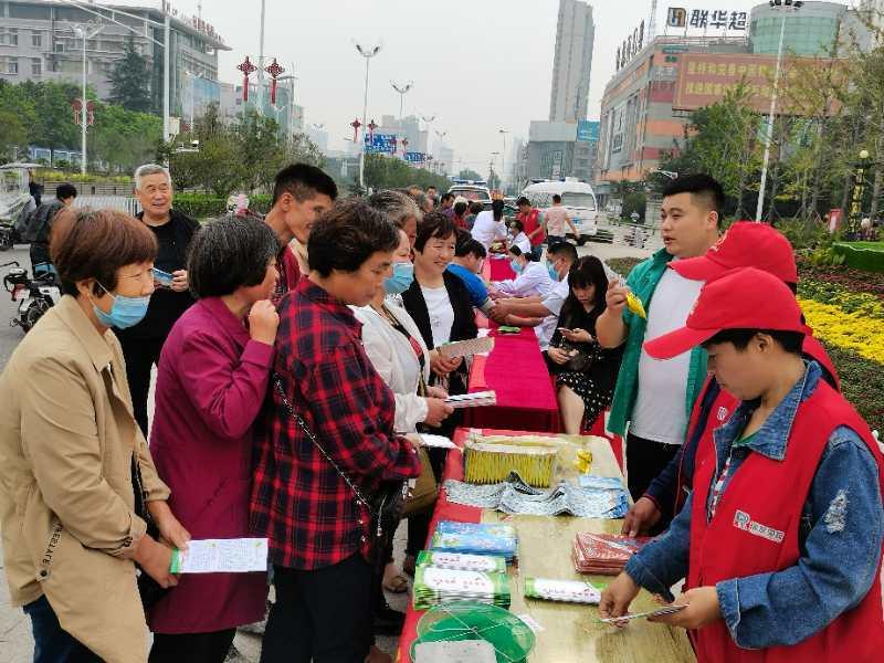 安徽界首开展第11个爱国卫生法制宣传周活动