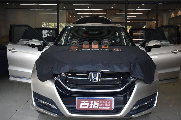 更好的声场体验!本田URV汽车音响改装升级三分频-佛山寿智