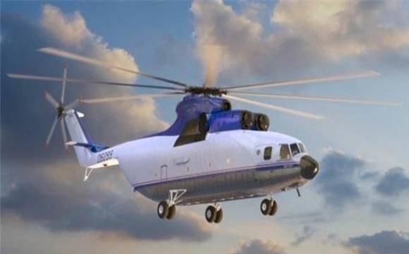 世界最大直升机惨遭腰斩,直径32米的碎片迸射,场面让人不忍看