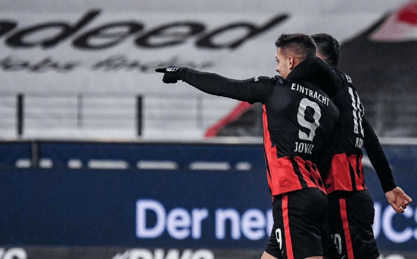 德甲第18轮持续开打,法兰克福客场5-1大胜比勒费尔德