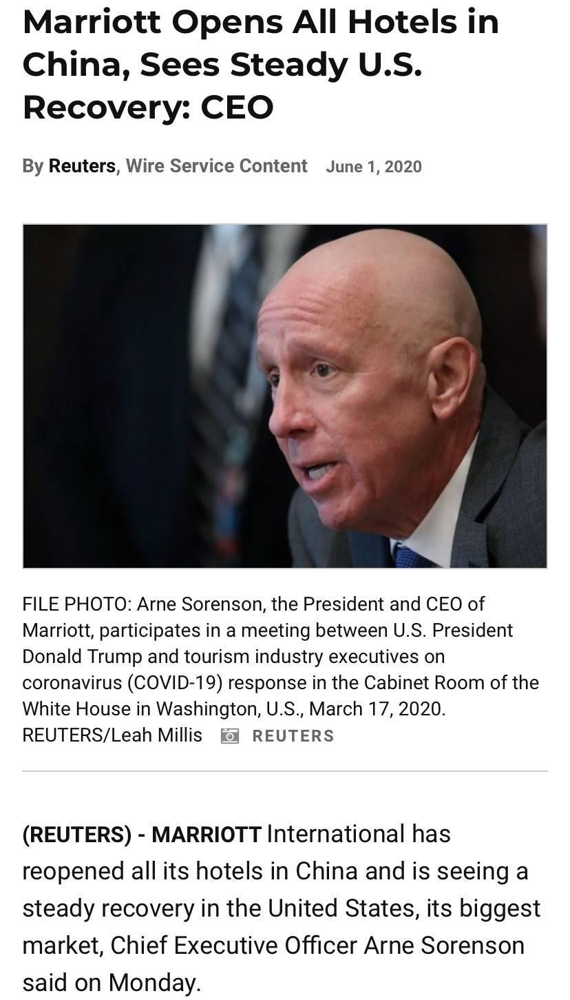 原总裁去世后,万豪集团首次披露集团净负债高达95亿美元