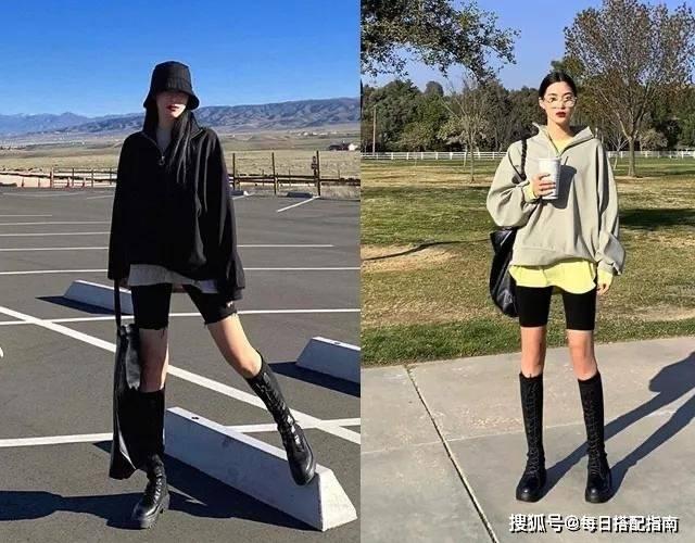 """【春天卫衣靴子怎么搭配时尚】""""最近流行的""""卫衣+靴子""""太好看了"""