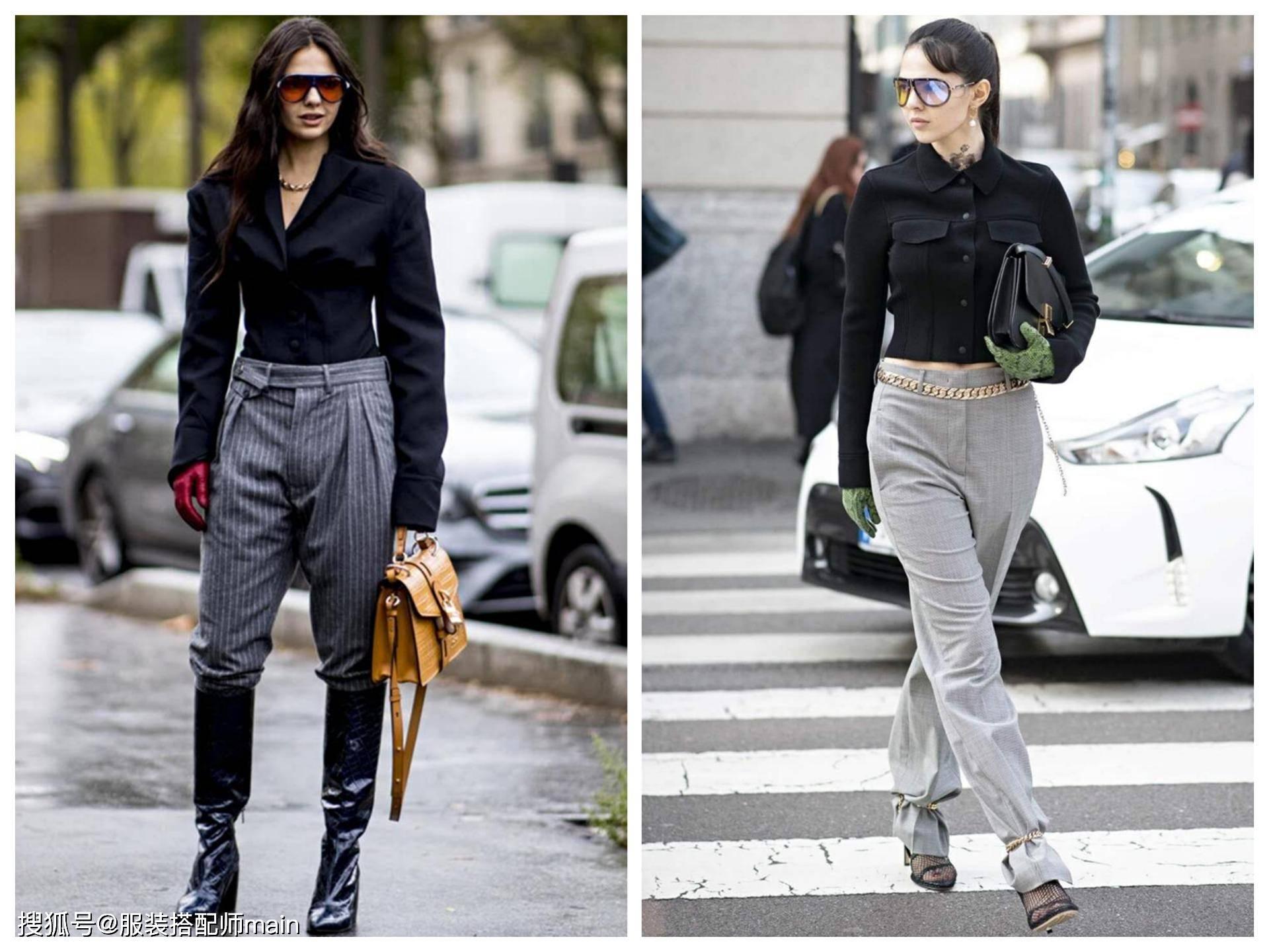 灰色裤子适合搭什么颜色上衣?推荐这4种,气质优雅又高级