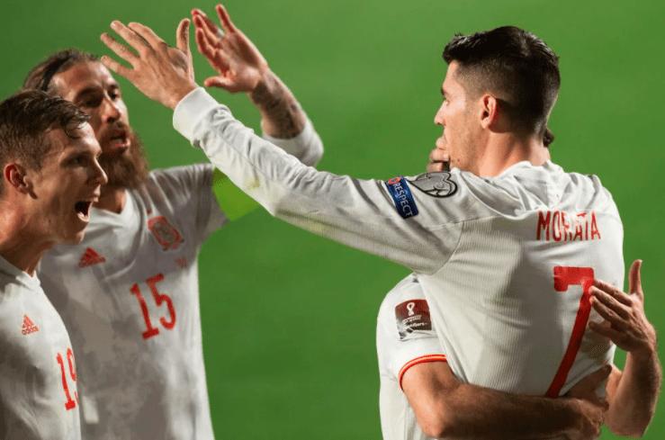 世预赛-莫拉塔破门拉莫斯替身送点 西班牙1-1希腊