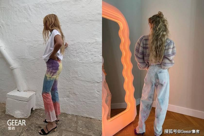 2021时尚博主预测这一款牛仔裤会爆红!_tie-dye