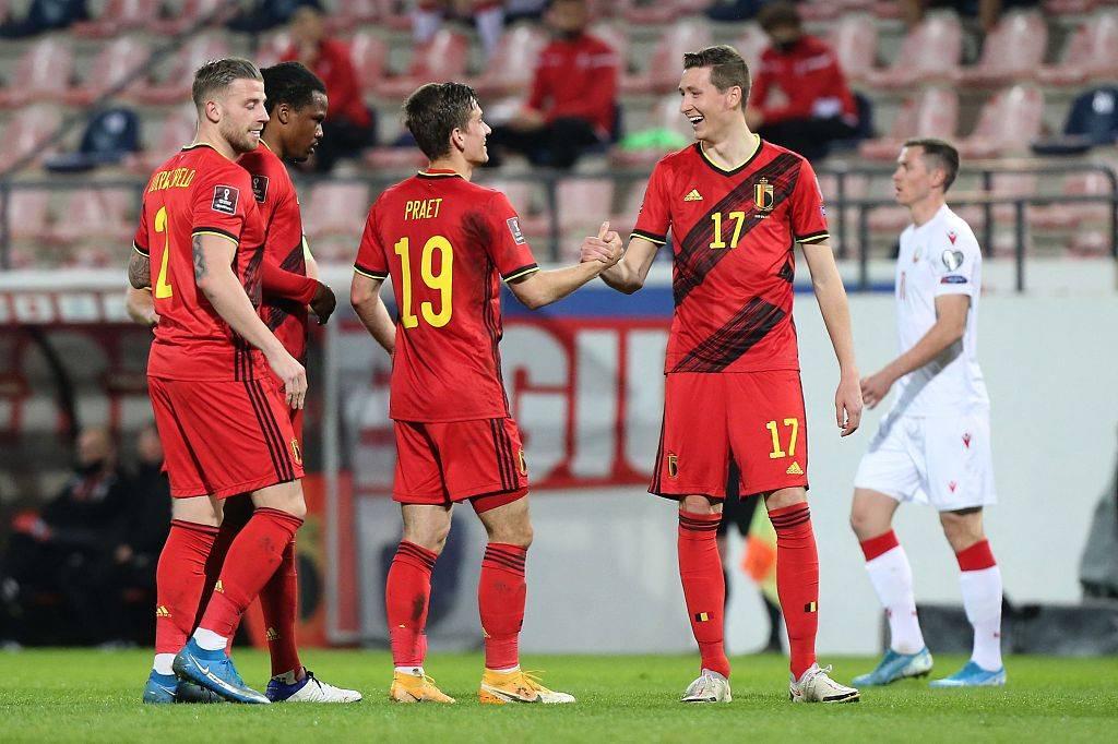 世预赛-巴舒亚伊传射本特克破门 比利时8-0狂胜