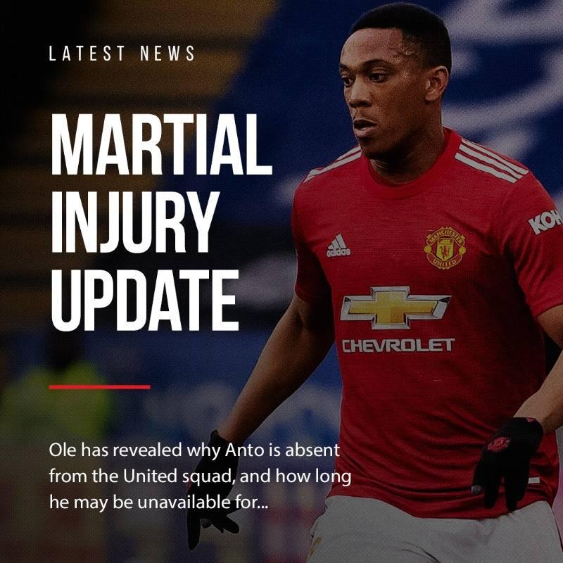 索帅:马夏尔在法国队时扭伤了膝盖 可能赛季报销