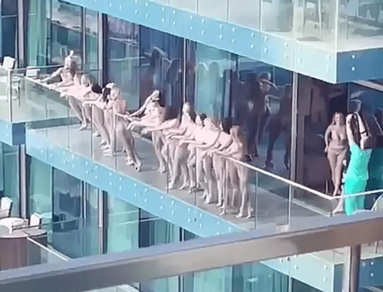 迪拜警方逮捕10多名 在阳台拍裸照的女子