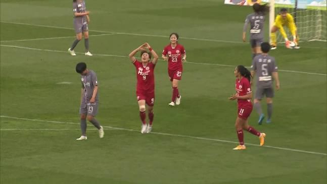 2021赛季韩国女足联赛今日开幕,卫冕冠军揭幕战七球大开杀戒