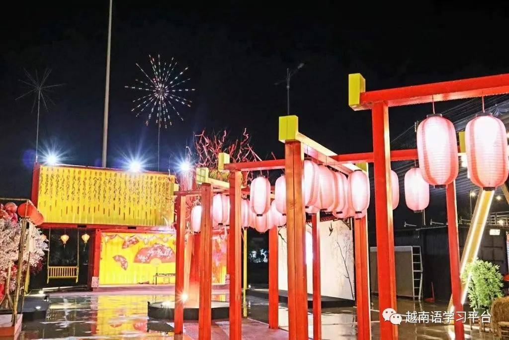 原创             越南平阳新市镇夜市:阳光货柜市集