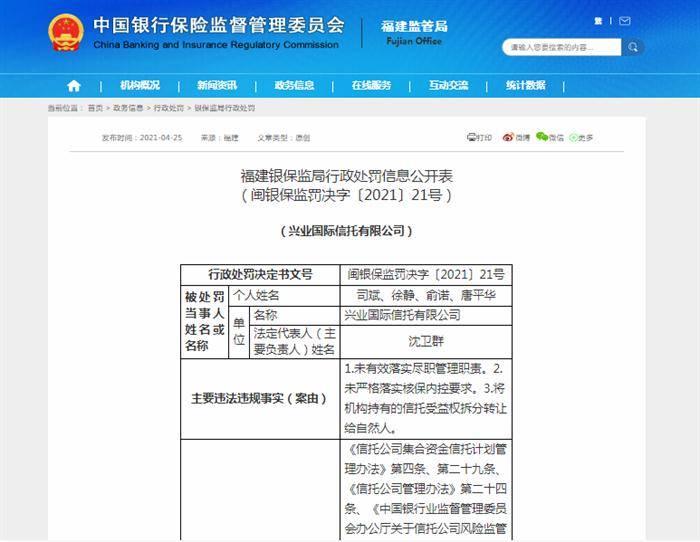 兴业县人口_兴业信托被罚150万!4名从业人员受警告