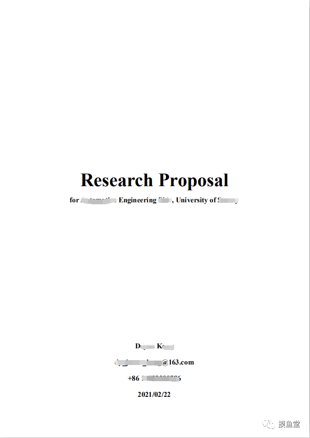 Research Proposal(研究计划书)制作方法