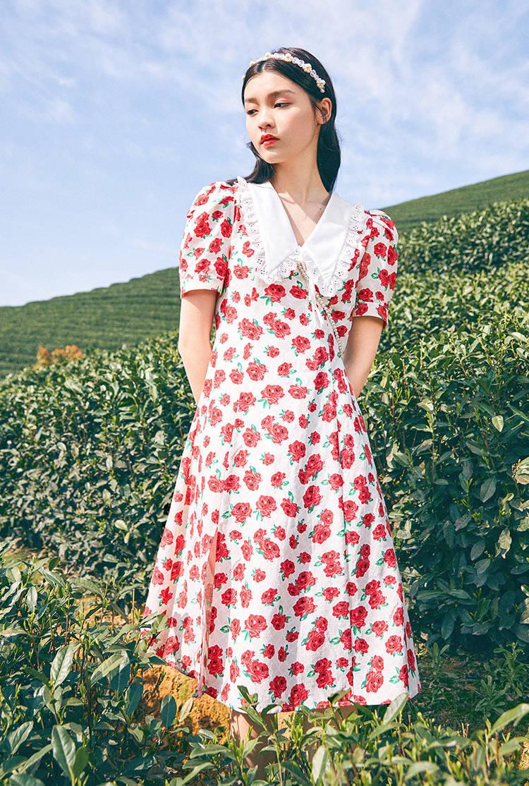 【夏天印花连衣裙】2021夏天穿什么裙子好看?