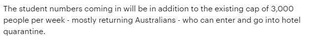 2021最新留学生返澳计划公布!8月留学生或可入境