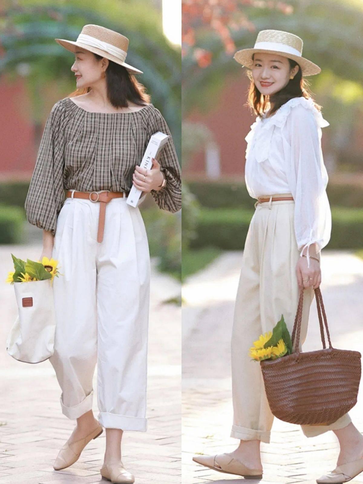 这个夏季阔腿裤不流行搭高跟鞋,优雅女人都爱配这4种平底鞋更舒适高级
