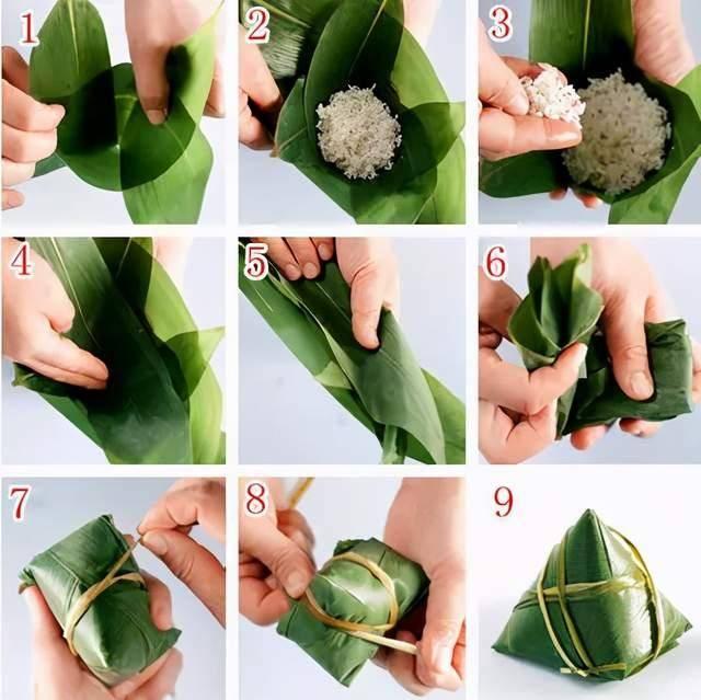 端午节快到了!教你几种包粽子的方法,圆的、扁的、四角的、锥形的  第3张