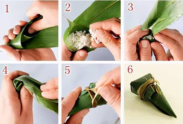 端午节快到了!教你几种包粽子的方法,圆的、扁的、四角的、锥形的  第4张