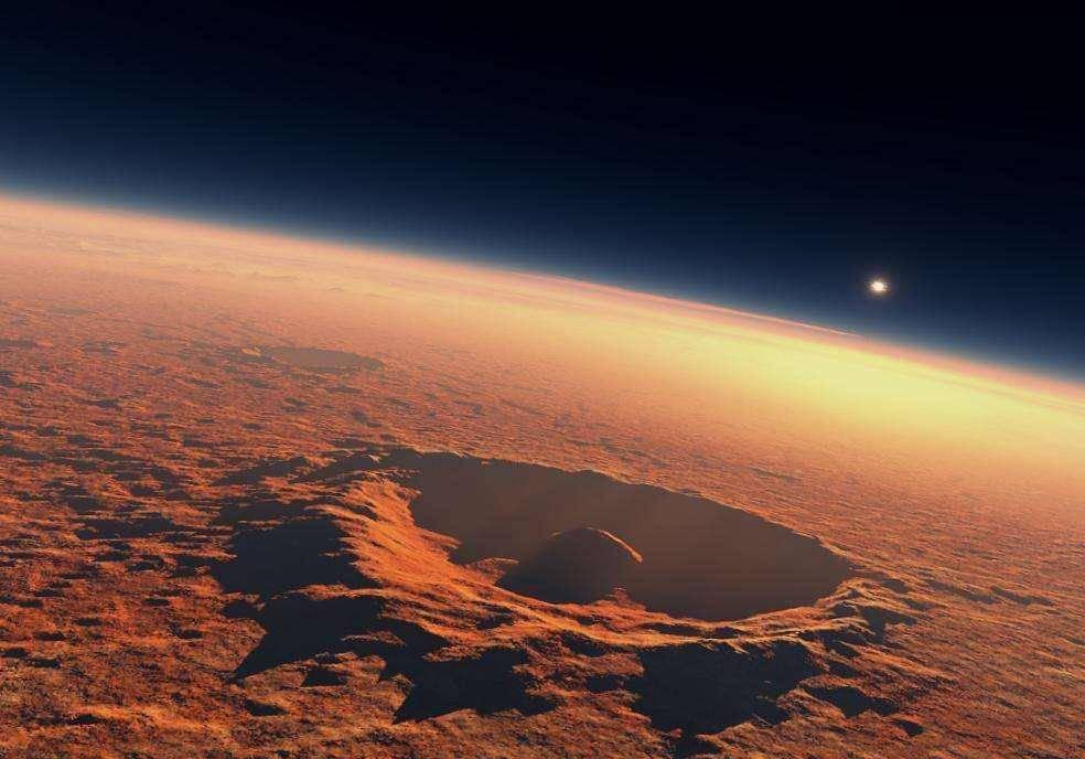 火星文明存在的证据?好奇号发回照片中,有人发现正圆形镂空零件