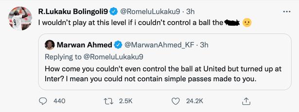 原创             卢卡库被嘲讽在曼联时不会停球,霸气爆粗回应!坚称不会转会曼城