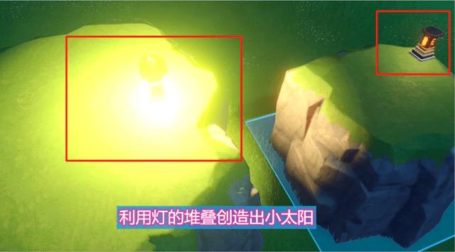 """原神利用提灯的重叠人造出太阳(眼睛差点都被""""亮瞎""""了)"""