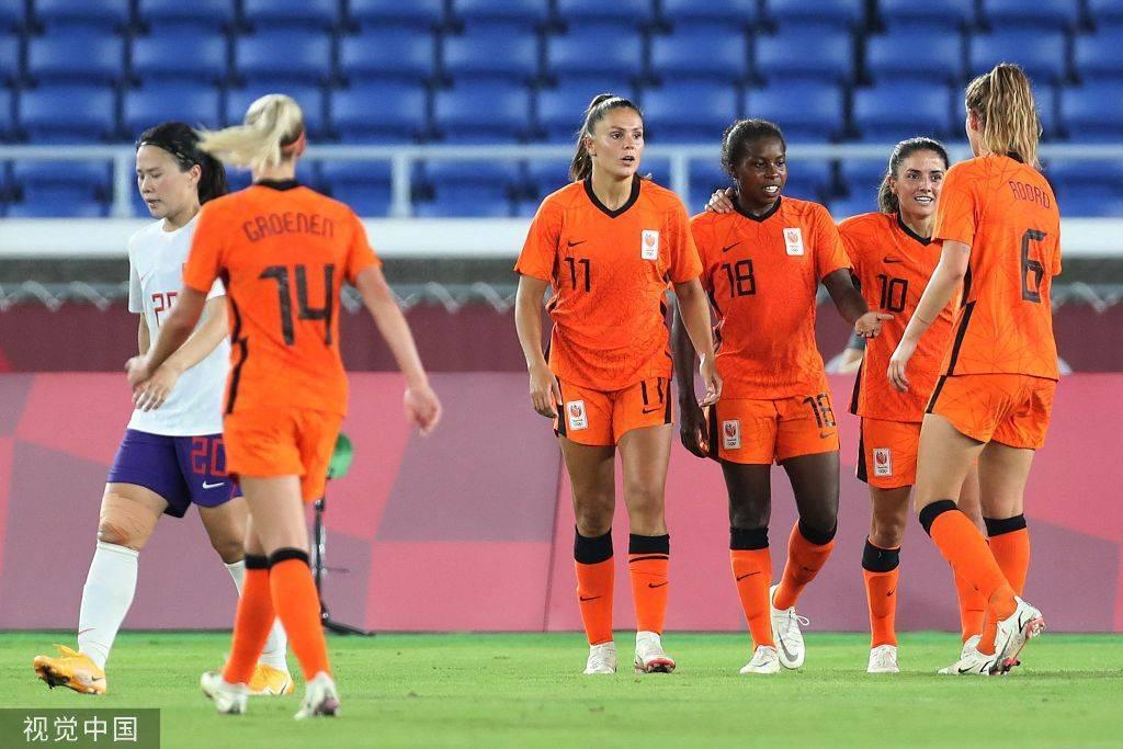 奥运女足-中国2-8荷兰平队史单场丢球纪录3战积1分出局0ms