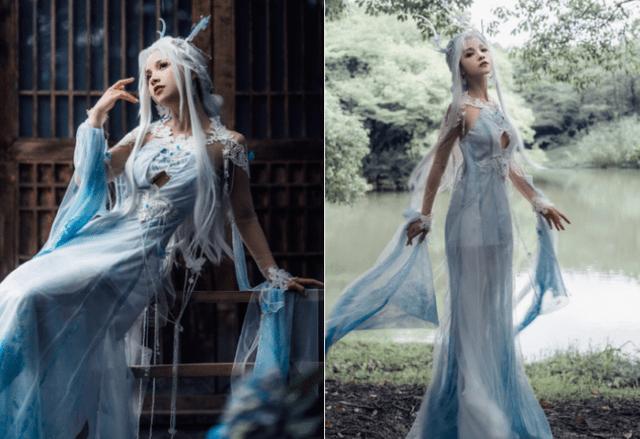 图片[6]-中国古风与洛丽塔的碰撞!顶级Lo娘谢安然实力演绎另类裙子,美如画-妖次元