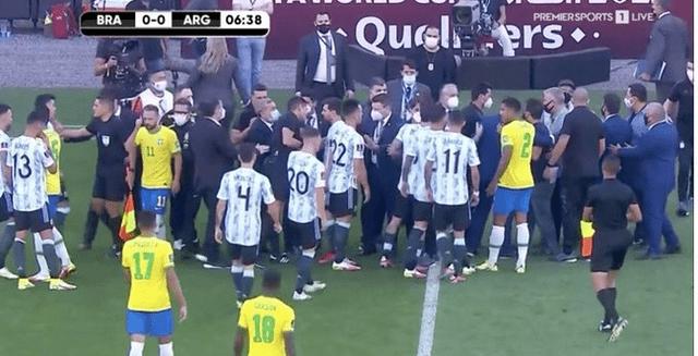 究竟惹恼了谁?媒曝巴西阿根廷比赛终止原因!梅西愤怒离开!
