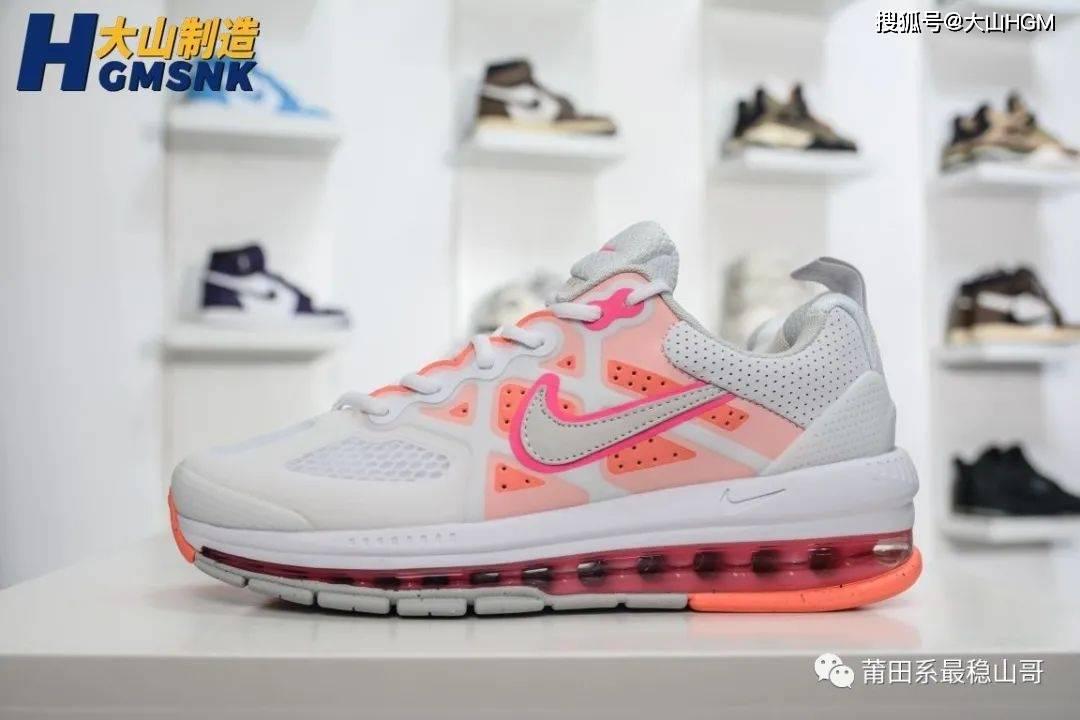 【大山制造】Nike Air Max Genome 白橙 全掌气垫跑鞋货号:CZ1645-101