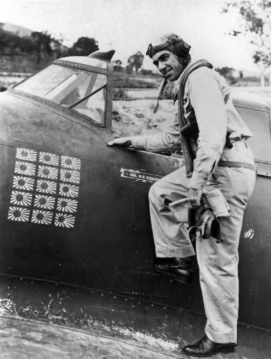 二战美军精锐飞行员,差一点成为头号王牌,怎奈被日军击落!