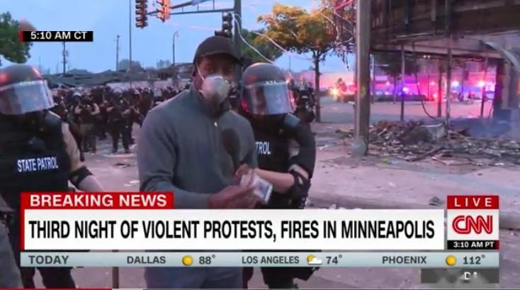 CNN黑人记者已被释放